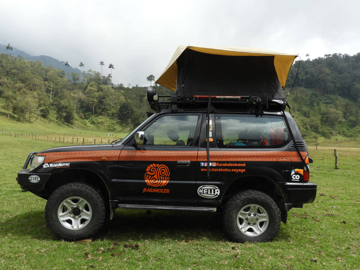 4x4 Off Road Vehicle With Rooftop Tent Karakoles Colombia
